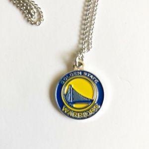 Golden State Warriors Pendant Necklace Basketball
